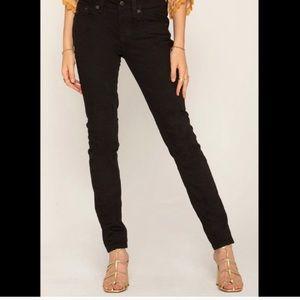 Miss Me Fleur De Lis Black Skinny Jeans Size 30